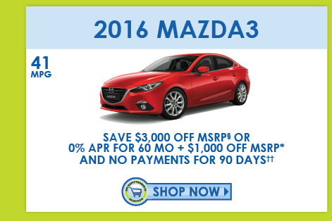 View 2016 Mazda3 Inventory